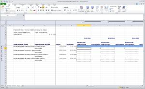 Обменный документ для отчета по трудозатратам (Excel)