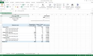 Автоматически сформированный лист отчета с группировкой по исполнителям